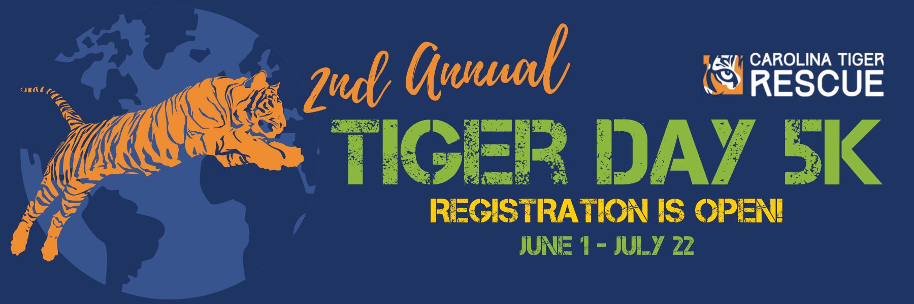 Carolina Tiger Rescue to host second virtual Tiger Day 5k in celebration of International Tiger Day on July 29