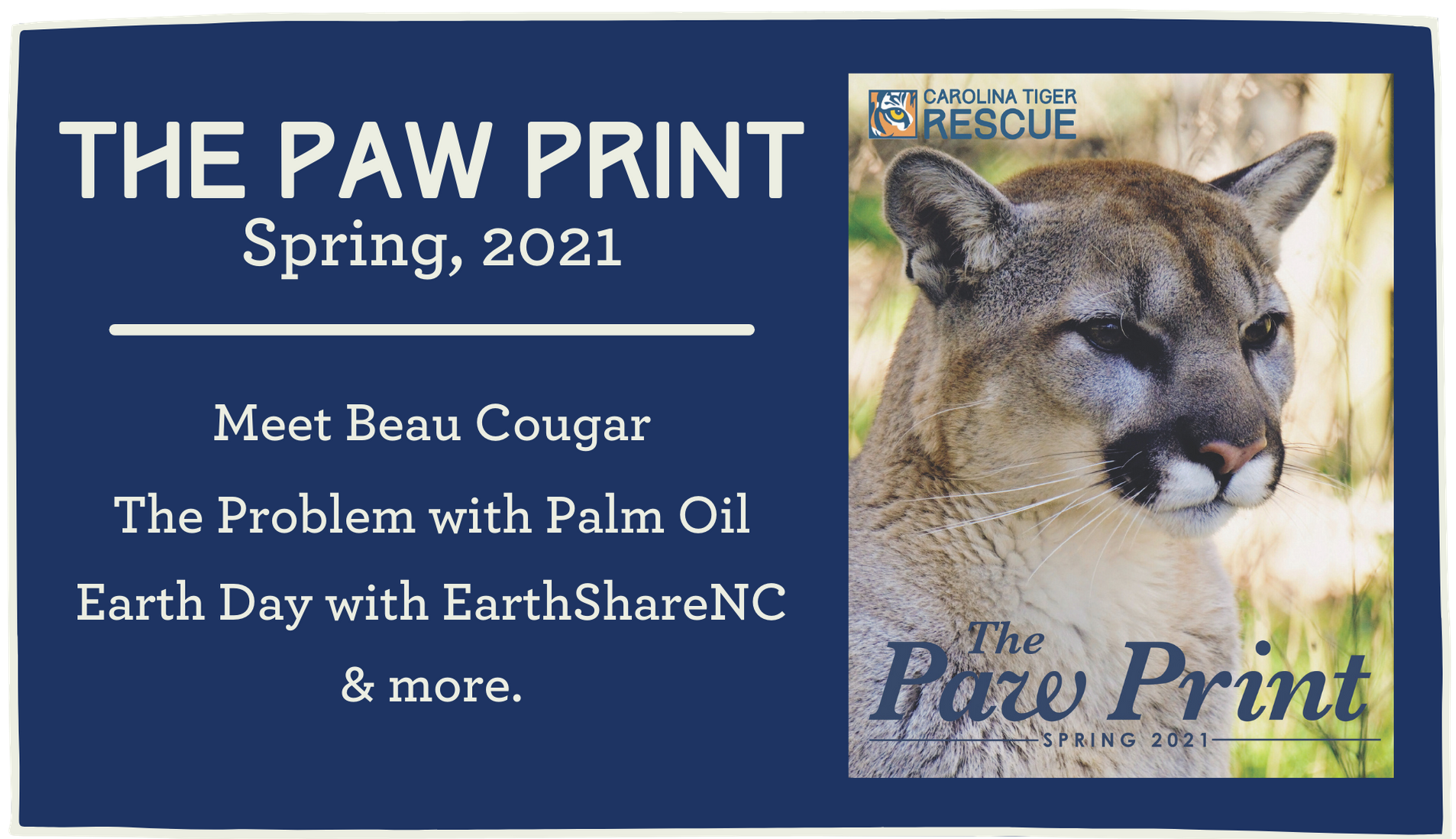 Meet Beau, learn about Palm Oil and Earth Day in the Spring 2021 Paw Print